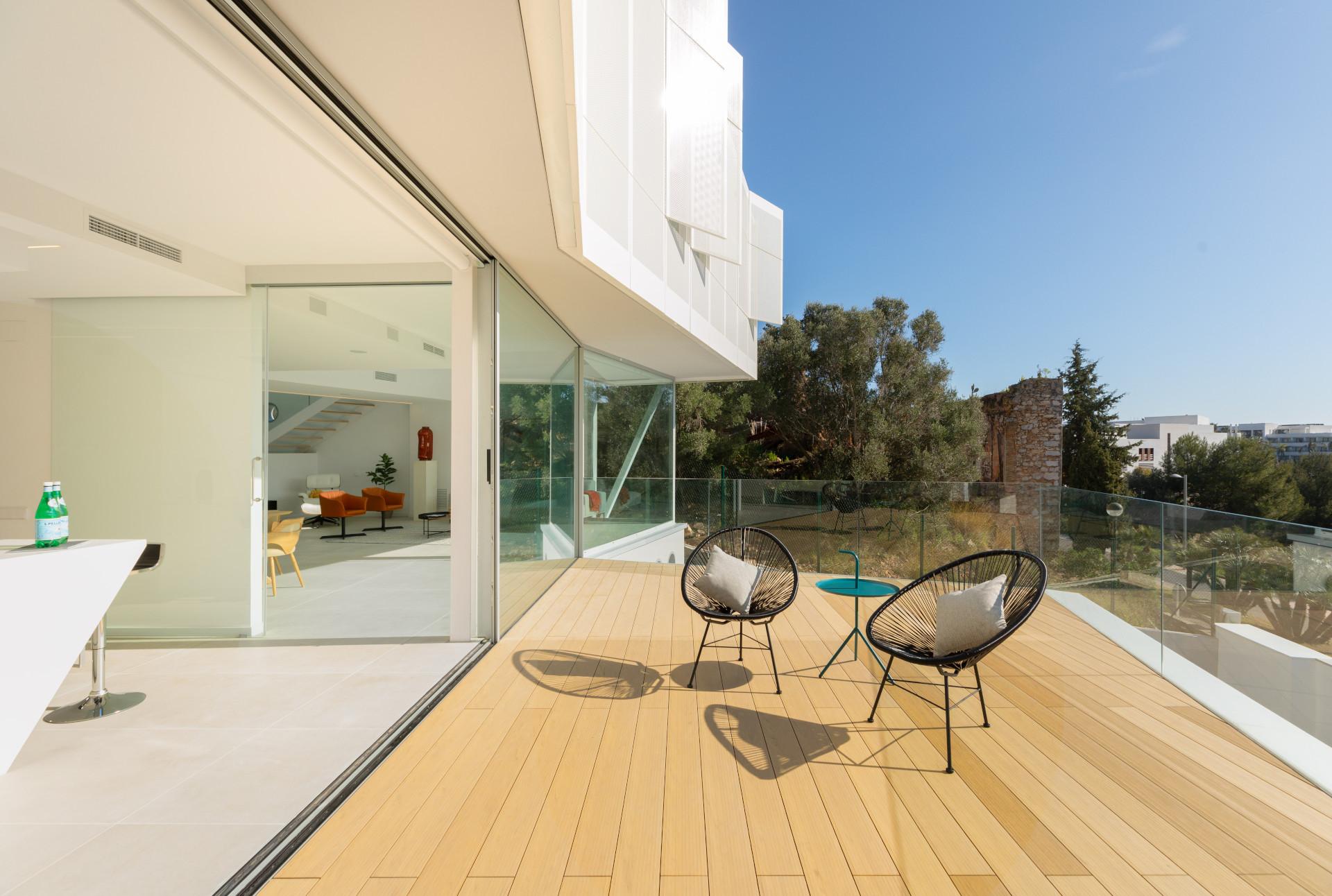 Terraza casa de diseño en Sitges