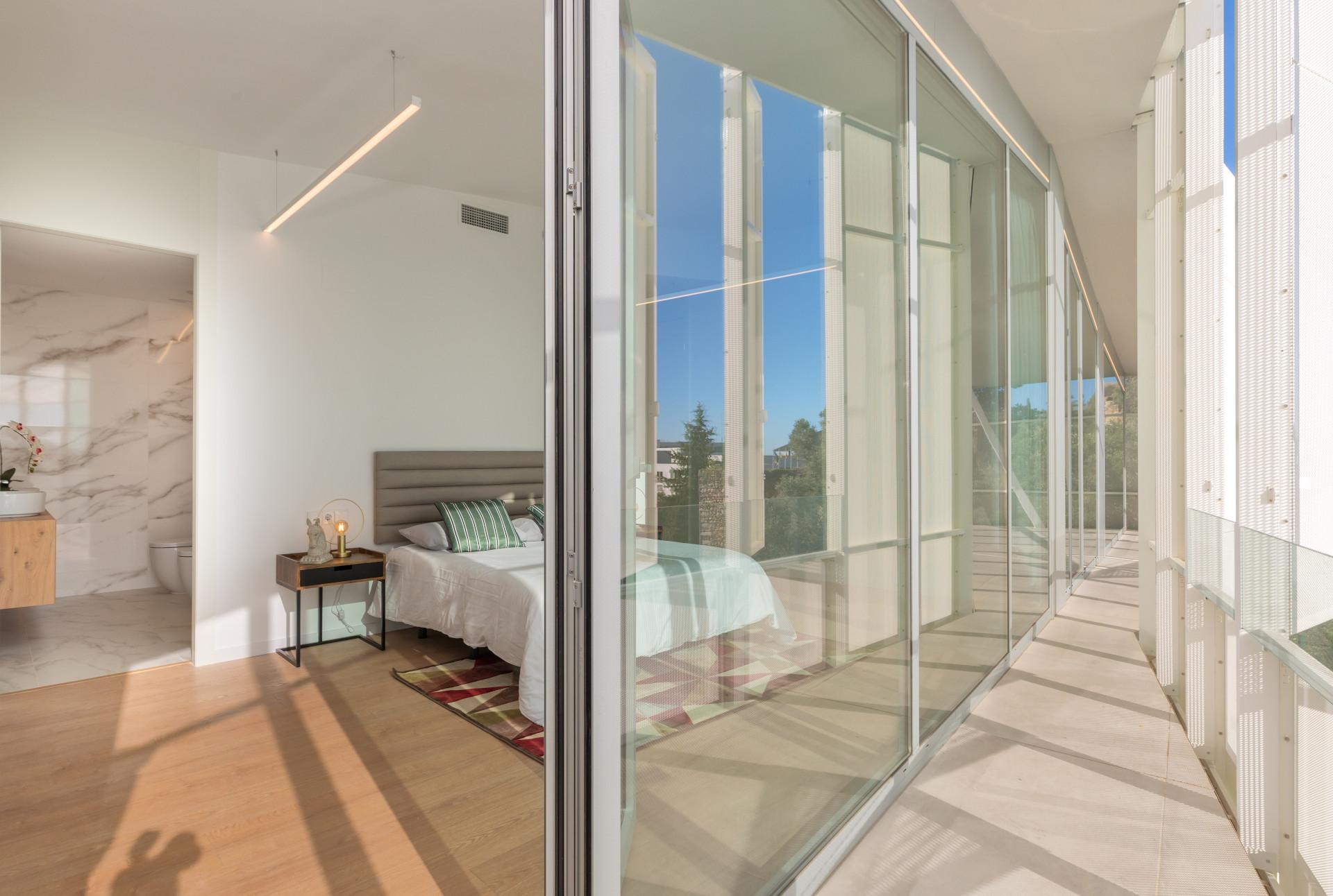 Dormitorio con vistas Sitges